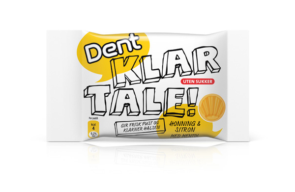 Packaging created by Strømme Throndsen Design for Dent's fresh breath and a clear throat pastel brand Klar Tale