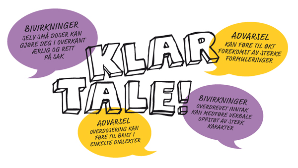 Typography created by Strømme Throndsen Design for Dent's fresh breath and a clear throat pastel brand Klar Tale