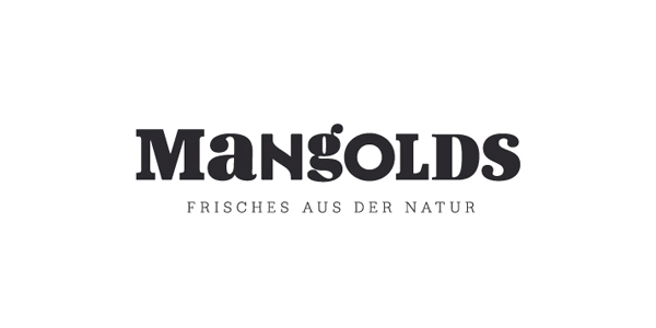 Logotype designed by Moodley for Austrian vegetarian and wholefood restaurant Mangolds