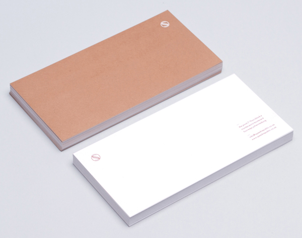 Logo and compliment slip with copper ink detail designed by James Kape for South African high-end motor vehicle trader Speed Republic