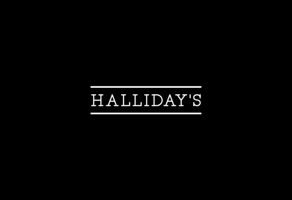 Logotype designed by Family for vintage china hire service Halliday's