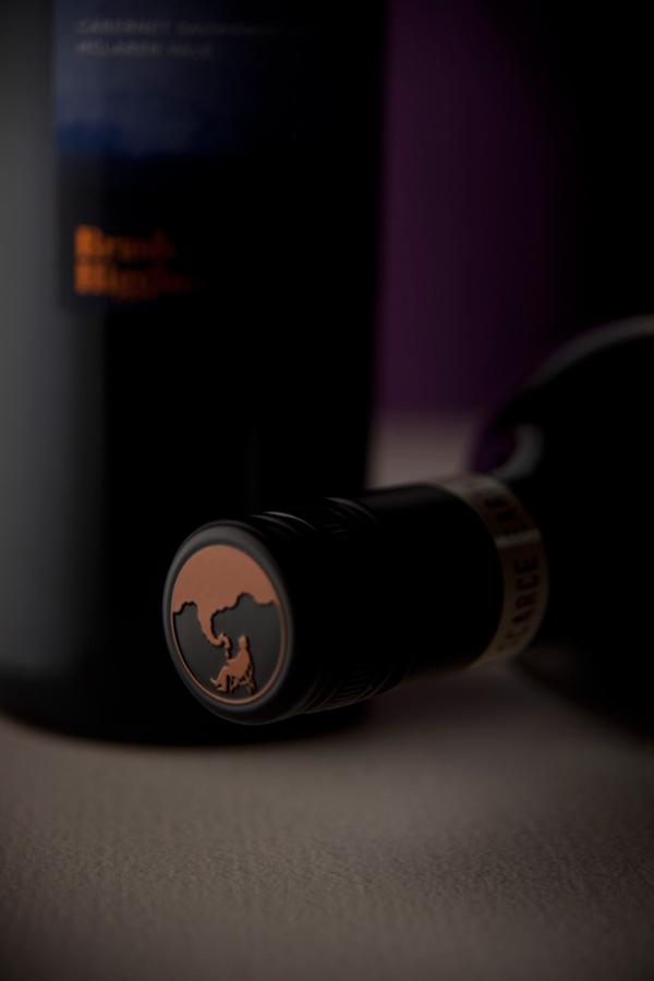 Packaging designed by Swear Words for wine label Brash Higgins