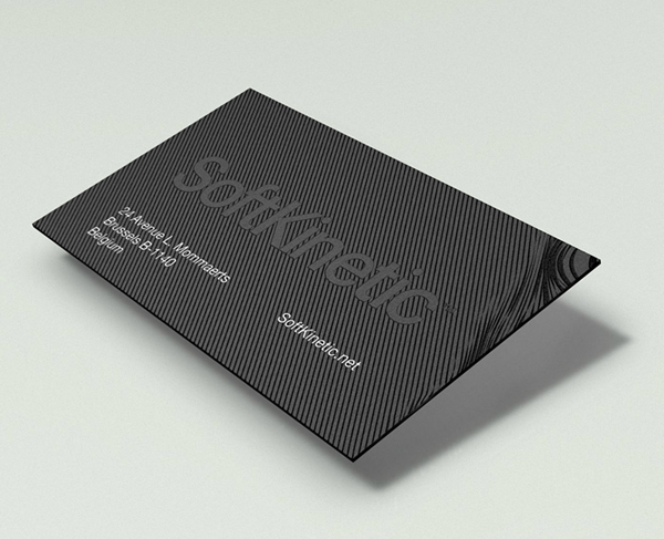 Logo and business card for gesture recognition technology developer SoftKinetic designed by Method