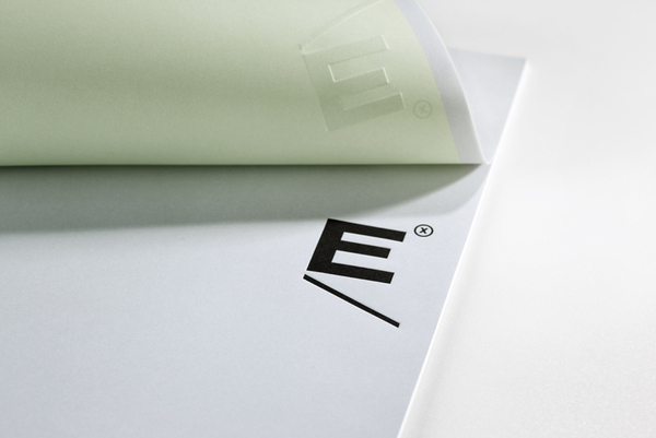 Logo and headed paper with emboss detail designed by Blok for Mexican industrial design studio Etxe