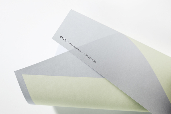 Logo and headed paper designed by Blok for Mexican industrial design studio Etxe
