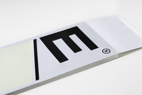 Logo and embossed print designed by Blok for Mexican industrial design studio Etxe