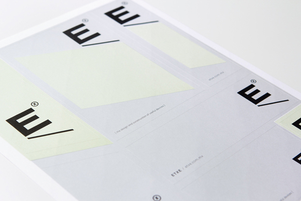 Logo and stickers designed by Blok for Mexican industrial design studio Etxe