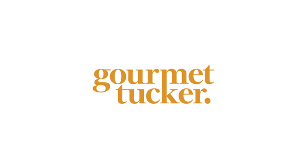 Logo, mixed fibre business with copper foil print finish and website designed by Supply for Auckland deli Gourmet Tucker