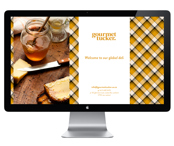 Logo and website designed by Supply for Auckland deli Gourmet Tucker
