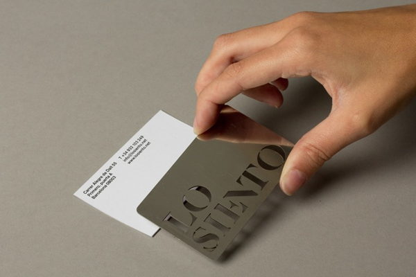 Logo, business card and stencil created by Mucho for Barcelona based design studio Lo Siento