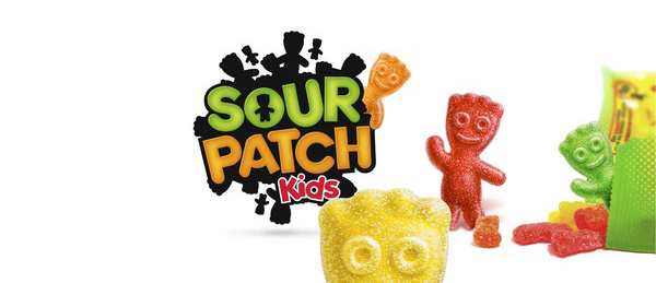 Logo design for confectionery brand Sour Patch Kids led by Landor's creative director Dale Doyle