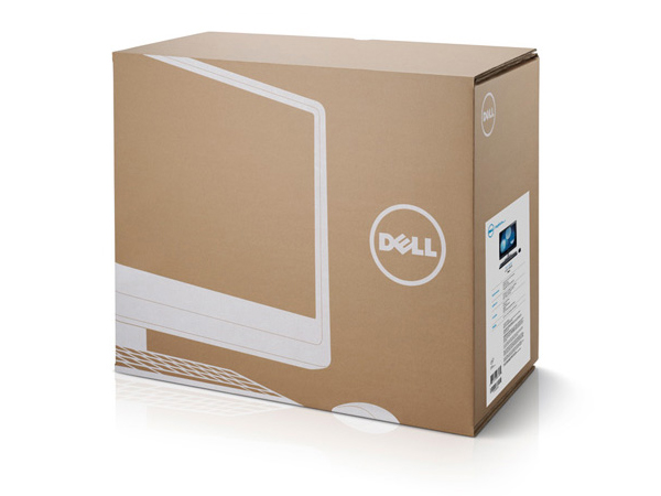 Packaging with a white ink and unbleached card aesthetic designed by Dowling Duncan for Dell's Inspiron PC, laptop and all-in-one range