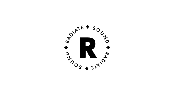 Logo designed by Bradley Rogerson for recording and engineering studio Radiate Sound