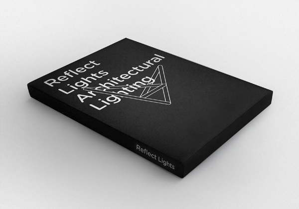 Logo and brochure designed by Designers United for architectural lighting firm Reflect Lights