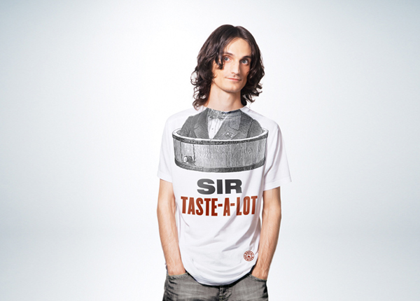 Illustrated T-shirt designed by Neumeister for low alcohol beer brand Sir Taste-A-Lot