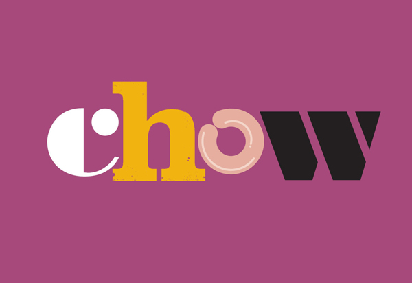 Logo for UK based snack food brand Chow created by Studio h
