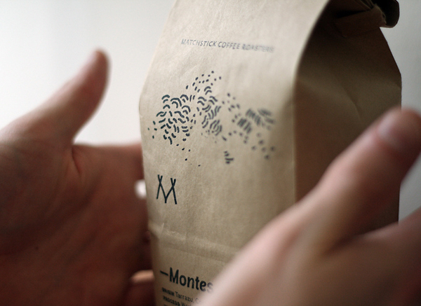 Logo and packaging design for Matchstick Coffee created by Vitae