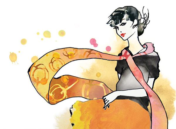 Illustration by Sarah Carter-Jenkins for biodegradable feminine hygiene range Tom Organic