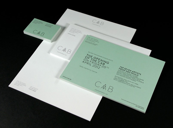 Logo, stationery and invitation designed by Codefrisko for private gallery and contemporary art centre CAB
