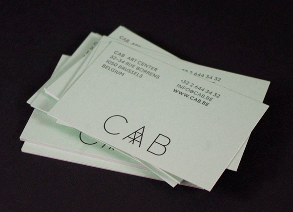 Logo and business card designed by Codefrisko for private gallery and contemporary art centre CAB