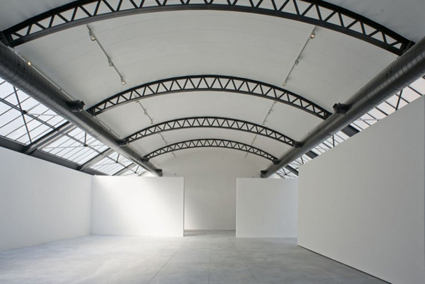 Interior of Brussels based private gallery and contemporary art centre CAB