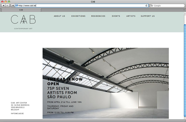 Logo and website designed by Codefrisko for private gallery and contemporary art centre CAB