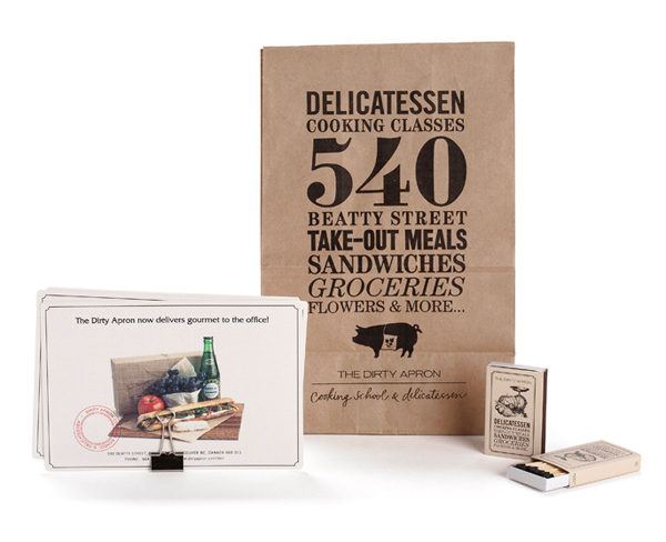 Packaging created by Glasfurd & Walker for delicatessen The Dirty Apron
