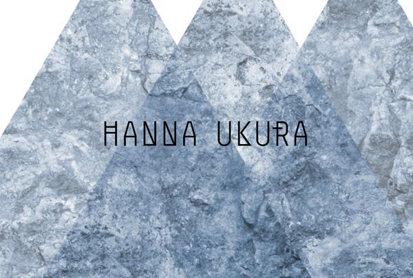 Logo designed by Dalston for Swedish portrait and fashion photographer Hanna Ukura