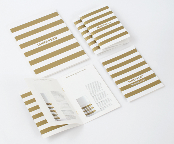 Print With Gold Spot Colour Detail Promoting James Reads Premium Tanning Range Designed By Studio Makgill