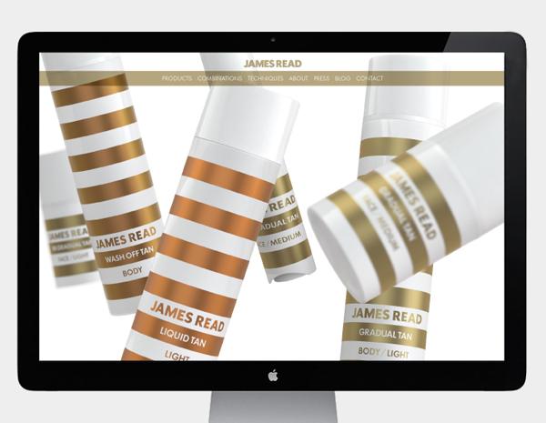 Website designed by Studio Makgill for James Read's premium tanning range