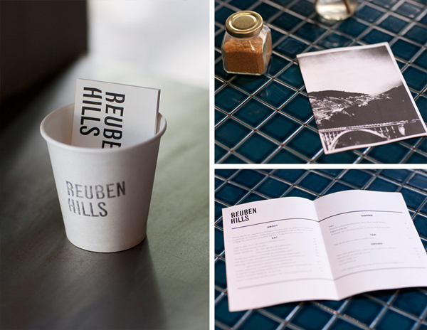 Logo and print designed by Luke Brown for coffee roastry and cafe Ruben Hills