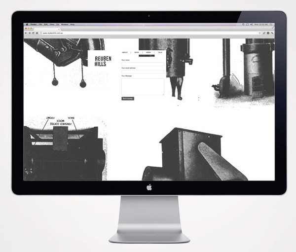 Logo and website with vintage photography detail designed by Luke Brown for coffee roastry and cafe Ruben Hills