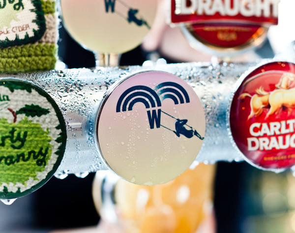 Logo and tap head design for The Merrywell developed by CIP