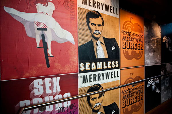 Interior artwork for The Merrywell developed by CIP