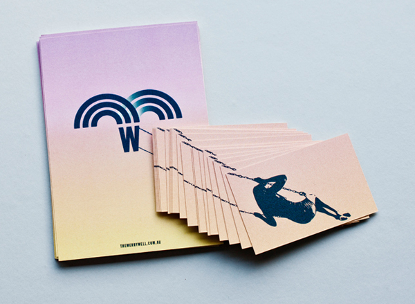 Logo, menu and business card design by CIP for The Merrywell