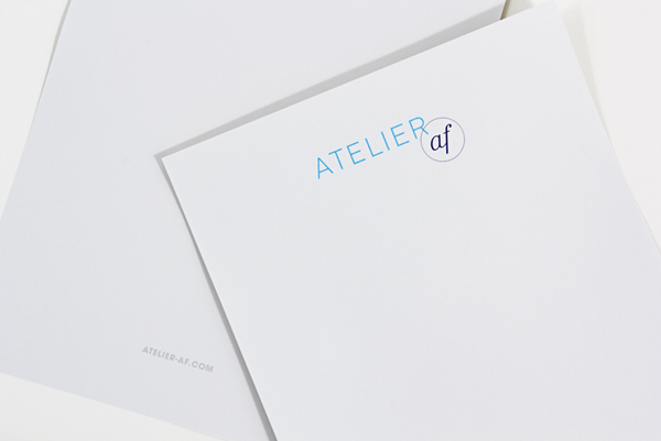 Atelier af - Logo and branding created by Blok