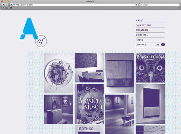 Atelier af - website created by Blok
