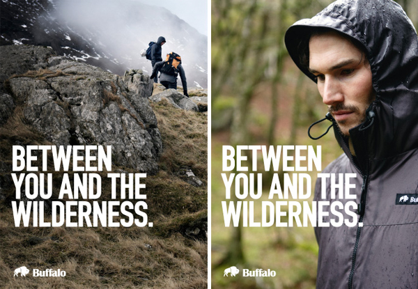 Logo and print designed by The Consult for outdoor clothing brand Buffalo Systems