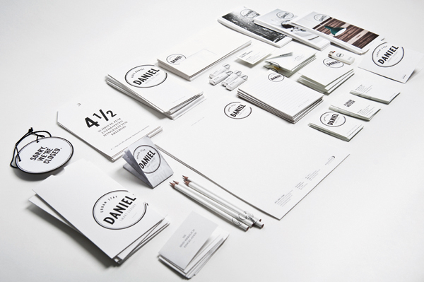 Logo and stationery designed by Moodley for Vienna and Graz based luxury hotel Daniel