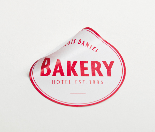 Logo and sticker designed by Moodley for Vienna and Graz based luxury hotel Daniel