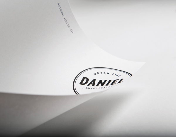 Logo and print designed by Moodley for Vienna and Graz based luxury hotel Daniel
