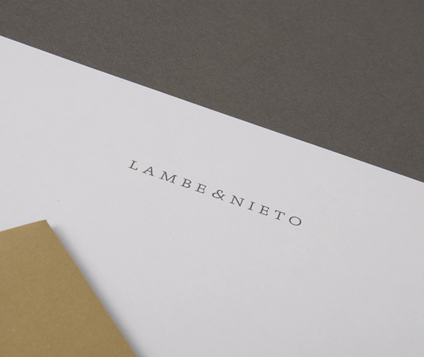 Logo and headed paper designed by Boscos for Spanish translation service provider Lambe & Nieto