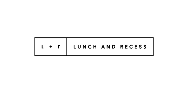 Logo designed by Fuzzco for video production company Lunch And Recess
