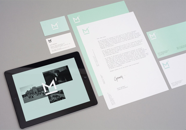Logo, stationery and mobile website designed by This Is Studio for specialist music industry PR firm Macbeth Media Relations