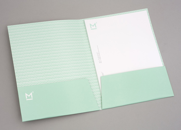 Logo, folder and headed paper designed by This Is Studio for specialist music industry PR firm Macbeth Media Relations