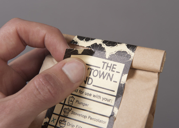 Coffee packaging designed by Liquorice Studio for cafe and coffee shop Newtown Social Club