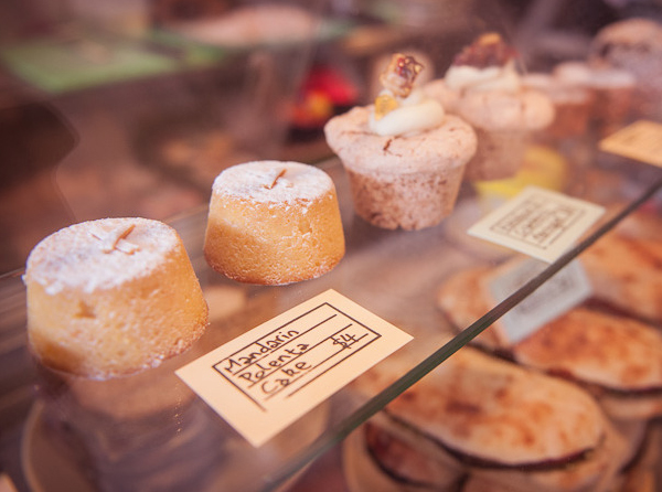 Cake labels designed by Liquorice Studio for cafe and coffee shop Newtown Social Club