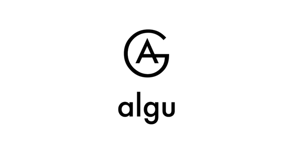 Logo and monogram designed by Francesc Moret for architecture and interior design studio Algu