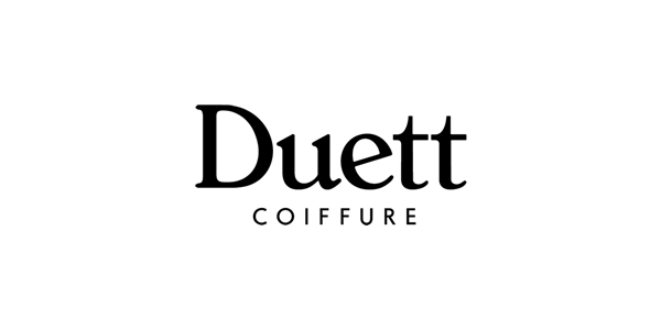 New logo for Swiss hair salon Coiffure Duett designed by Bureau Collective