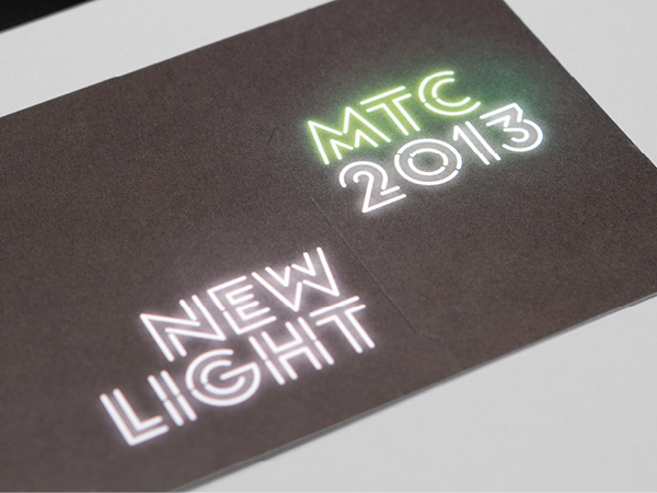 Logo and print developed by Interbrand under the theme of 'new light' for Melbourne Theatre Company